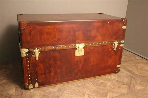 leather steamer trunk coffee table extra large louis vuitton all leather wardrobe steamer