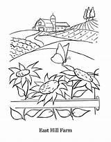 Coloring Hill East Farm Inn sketch template