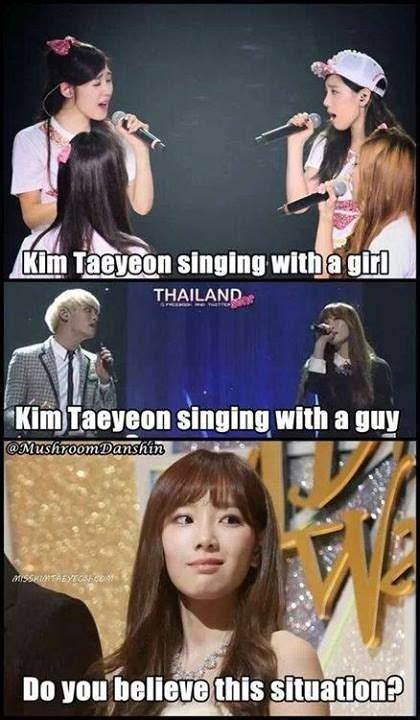 Snsd Memes - snsd taeyeon singing meme girls boys