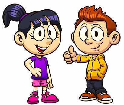 Clipart Talking Each Clip Child Cartoon Conversation