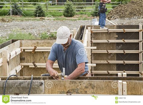 basement wall forms construction basement concrete wall forms editorial stock