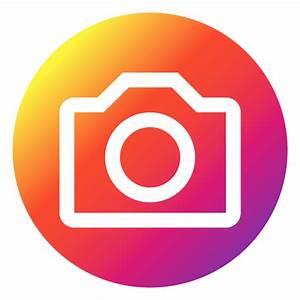 Instagram photo button - Transparent PNG & SVG vector