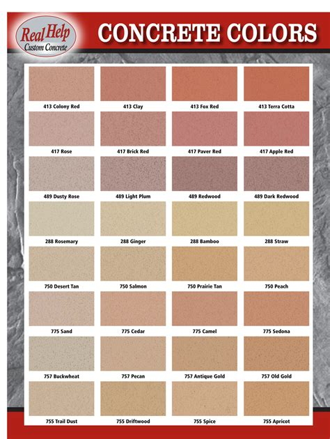 solomon concrete colors colors to choose from