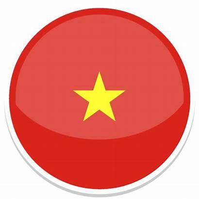 Vietnam Flag Icon Round Bandiera Icona Somalia