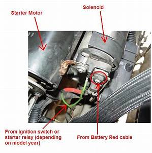 Starter Wiring  Differences  U0026 39 94 850   U0026 39 98 S70