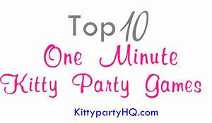 Kitty Party Games And Party Ideas