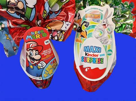 kinder maxi the looney tunes show egg easter mario mario