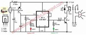 Hobby In Electronics  Ir Remote Control Home Appliance Circuit Diagram
