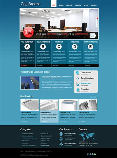 air joomlsa template air conditioning html template id 300110980 from