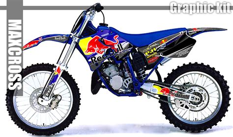 yamaha yz125 yz250 1996 1997 1998 1999 2001 maxcross graphics decals kit