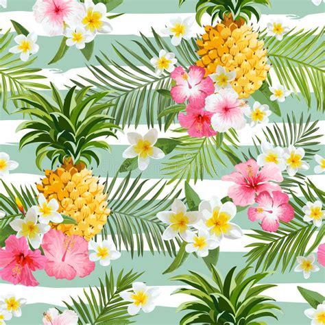 Flamingo Pineapple Vintage Wallpaper