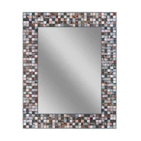 deco mirror        earthtone copper bronze