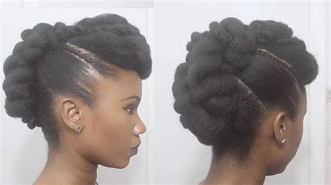 twisted mohawk updo natural hair youtube