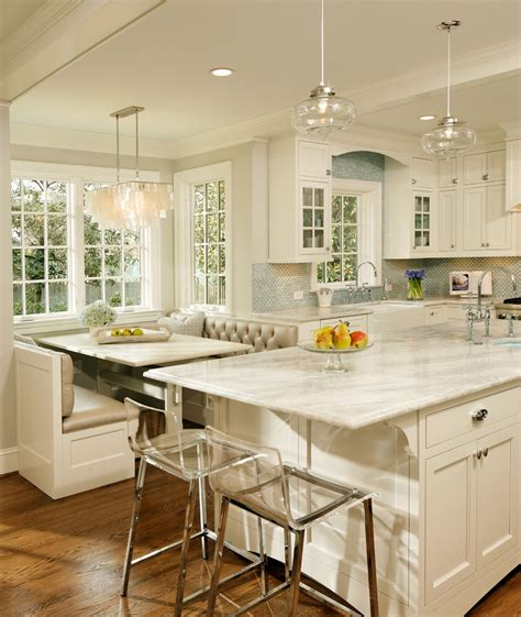 Brown And Aqua Living Room Ideas by Breakfast Nook Lighting Kitchen Traditional With Banquette