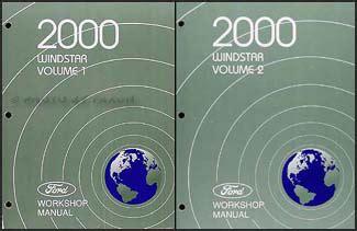 car repair manual download 1996 ford windstar electronic throttle control 2000 ford windstar repair shop manual 2 volume set original