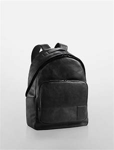Lyst - Calvin klein Jeans Pebble Textured Leather Backpack ...