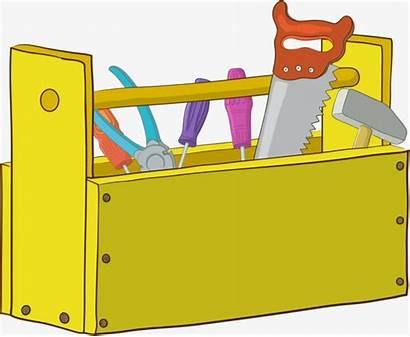 Toolbox Cartoon Clipart Clip Hammer Tool Box