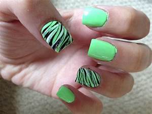 Gallery for gt cute zebra nail designs acrylic nails