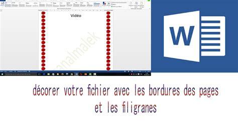 Pour Word by Comment D 233 Corer Vos Fichiers Word Avec Bordures De Pages