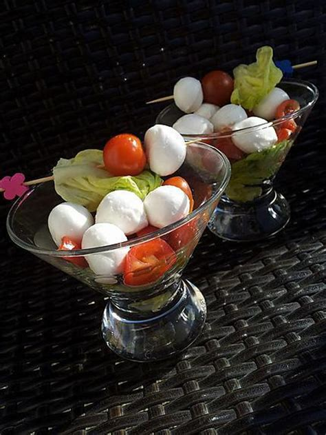 recette de verrines de salade aux tomates cerise  billes