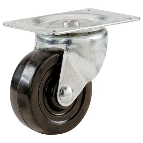 everbilt 3 in soft rubber swivel plate caster with 175 lb