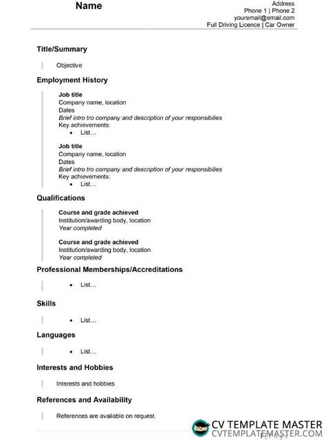 Resumemplate Google Docs Simple Classroom Free Microsoft ...