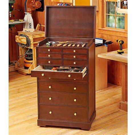heirloom rolling tool cabinet woodworking plan  wood