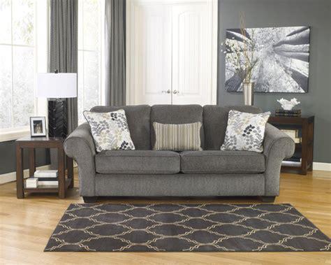makonnen charcoal sofa loveseat signature design by makonnen charcoal fabric sofa