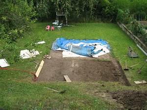Preparation Terrain Pour Piscine Hors Sol Tubulaire : travaux piscine autoport e eau verte ~ Melissatoandfro.com Idées de Décoration