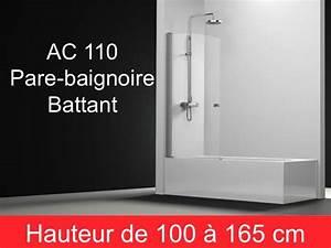 Pare Baignoire 60 Cm : parois de douche largeur 60 pare baignoire battant 60 cm ~ Dailycaller-alerts.com Idées de Décoration