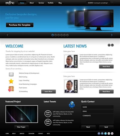 professional website templates 50 beautiful free and premium psd website templates and tutorialscreative can