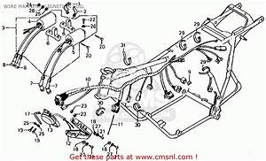 Honda Cb750f 750 Super Sport 1976 Usa Wire Harness