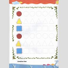 Tracing Shapes Worksheet For Preschool And Kindergarten  Free Printable Dot To Dot Shapes