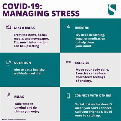 Stress Coping Covid Infographic Managing Overload Break