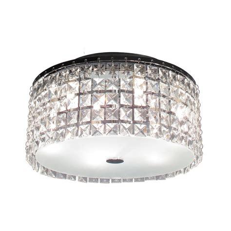 Interior Decor Crystal Flush Mount Ceiling Light Flush