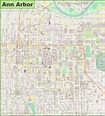 Map Of Ann Arbor | Map encdarts