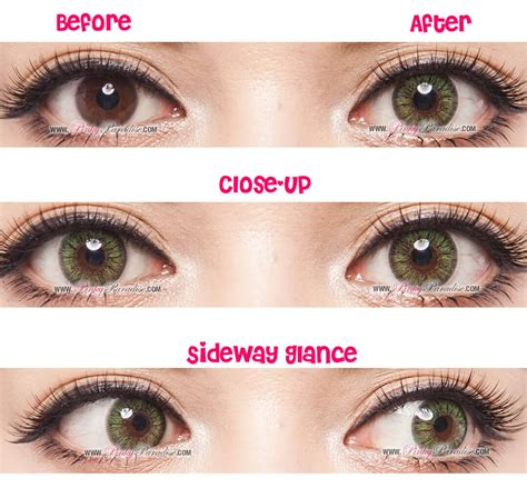 contacts colored g g gbt green circle lenses colored contacts pinkyparadise