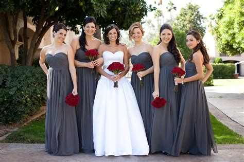 gray bridesmaids dresses 50 shades of grey weddings the mills