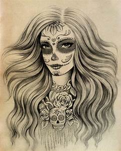 sugar skull tattoo design | Tumblr