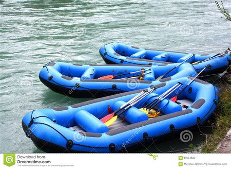 Boat Rafting by Water Rafting With Rafting Boats Stock Photo Image Of