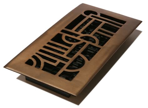 Rubbed Bronze Floor Registers by 4x12 Solid Brass Deco Floor Register With A Rubbed