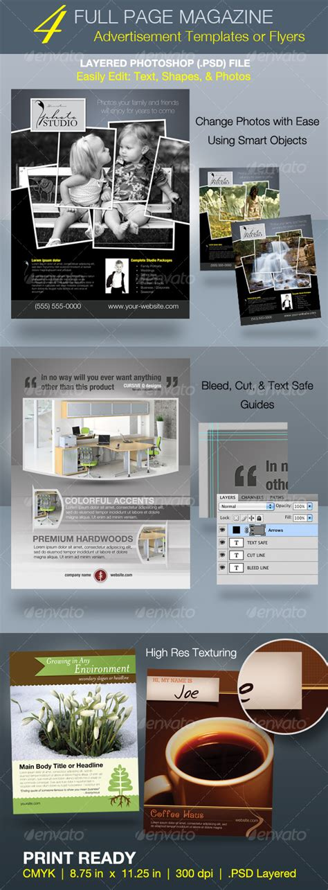 magazine ad template page magazine ad and flyer templates print ad templates
