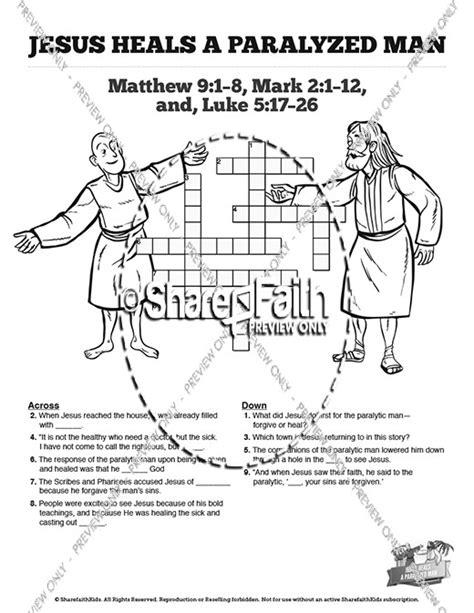 Fishing Boat Crossword Solver by Luke 5 Jesus Heals The Paralytic Sunday School Crossword