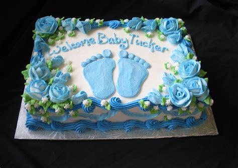 baby foot prints blue sheet cake giggys cakes
