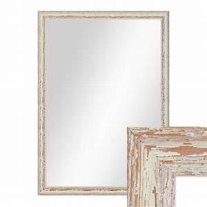 Spiegel Weiß Holzrahmen : wand spiegel 56x76 cm im holzrahmen weiss shabby chic vintage spiegelfl che 50x70 cm spiegel ~ Indierocktalk.com Haus und Dekorationen