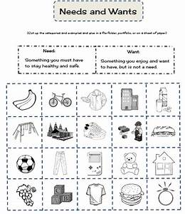 Needs and Wants sort | Social Studies! | Pinterest ...