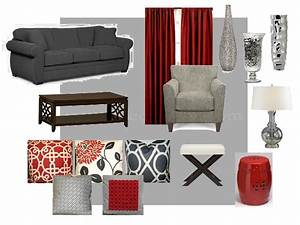 Future living room gray red and creamyes please for Gray and red living room