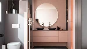 Modèle Salle De Bain : petite salle de bains design noir et bois ambiance crin ~ Voncanada.com Idées de Décoration