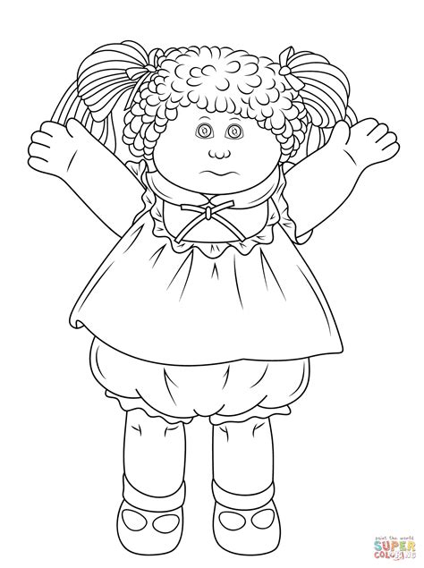 Cabbage Patch Doll Coloring Page Free Printable Coloring