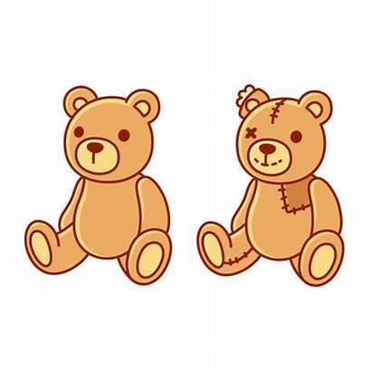 Teddy Bear Toy Vector Cartoon Illustrations Clip